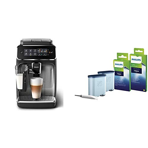 Philips Serie 3200 LatteGo EP3246/70 - Cafetera super automática + Kit de Mantenimiento para Máquinas Automáticas