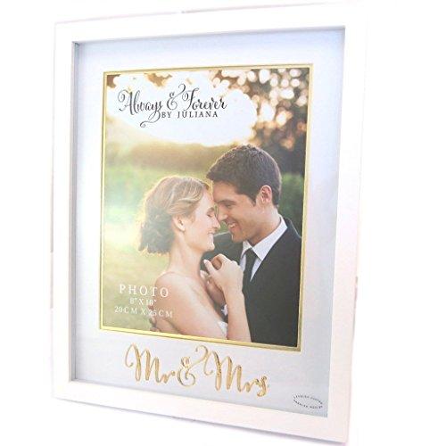 Les Trésors De Lily [P4196 - Cadre Photo 'Romance' Blanc (Mr & Mrs) - 20x25 cm