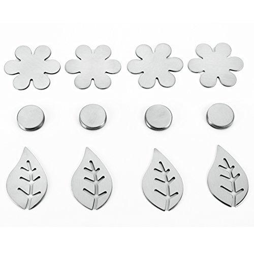 Metaltex magnetische Tischdecken-Gewichte, Silber, 4-teilig (Sortiert)