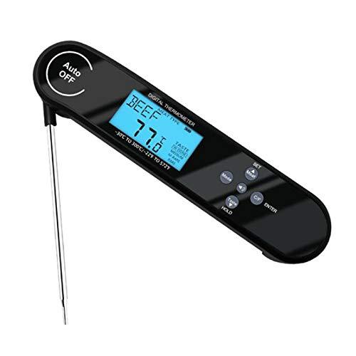 Termometro Cocina con Alarma y Retroiluminación LCD IP66 Impermeable 5s Lectura Instantánea Termometro Horno con sonda plegada 172 * 37 * 22 mm