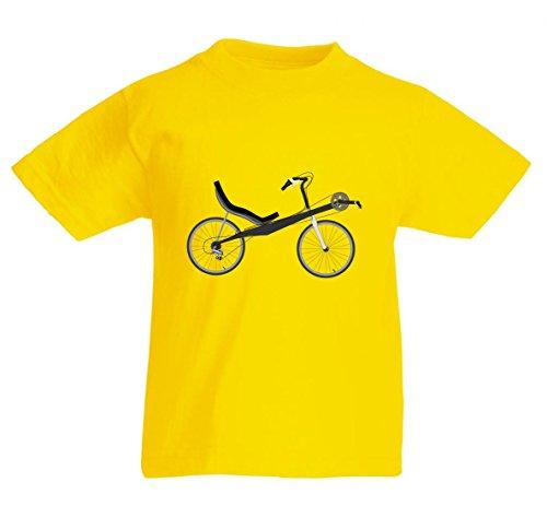 T-Shirt Fahrrad- LIEGERAD- Chaise Lounge- Transport- Fahrzeug- Radfahren in Gelb für Herren- Damen- Kinder- 104-5XL