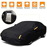 NEVERLAND Sedan Car Cover Waterproof Heavy Duty All Weather Protection Anti-UV Windproof Outdoor Full Car Cover Fit for Automobiles 178''~185'' Alfa-Romeo /BMW /Mercedes-Benz /Honda /Toyota