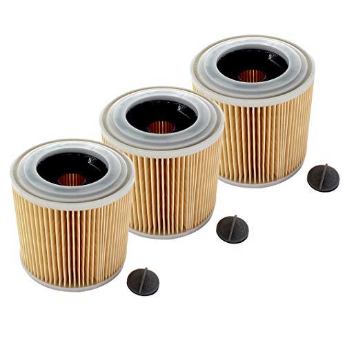 AISEN 3x Patronen-Filter für Kärcher A 2604, A 2654 Me, A 2656 X Plus, SE 4001
