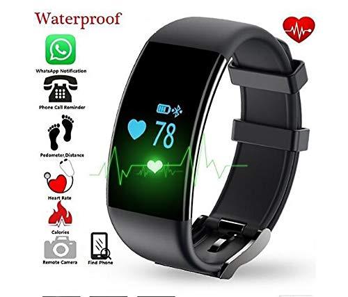 XCQZN Pulsera Actividad Inteligente, Pulseras Actividades Impermeable IP67 con Correa Reemplazable, Oxígeno En Sangre Monitor Cardiaco Reloj Pulsaciones GPS para Niños, Mujeres, Hombres