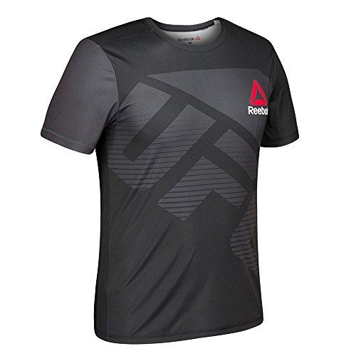 adidas Reebok UFC Official BVR (Black/Silver) Fight Kit Walkout Jersey Men's