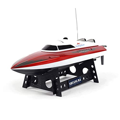 Slreeo 2. 4G Speed Boat, Nautical Model Toys, Dual-Motor Remote Control High-Speed Boat, Automatic Reset After Capsizing, Anti-Fall and Collision Resistance, Best