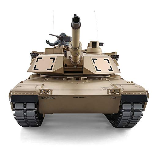 TBFEI 2.4G Remote Control Military Model 1/16 U.S. M1A2 Abrams Main Battle Tank Can Smoke (360-Degree Rotating Turret)(Steel Gear Gearbox)(3800mah Nimh Battery)(Metal Tracks &Sprocket Wheel & Idle Whe