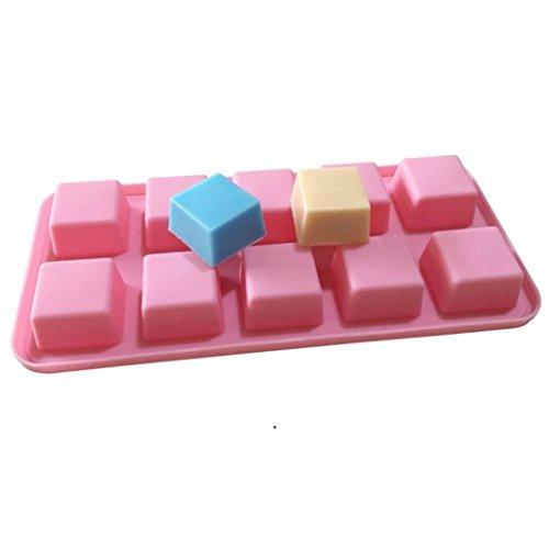 Allforhome 10 Square Cavities Siliconen Cake Bakken Mold Cake Pan Muffin Cups Handgemaakte Zeep Mallen Biscuit Chocolade Ice Cube Tray DIY Mold