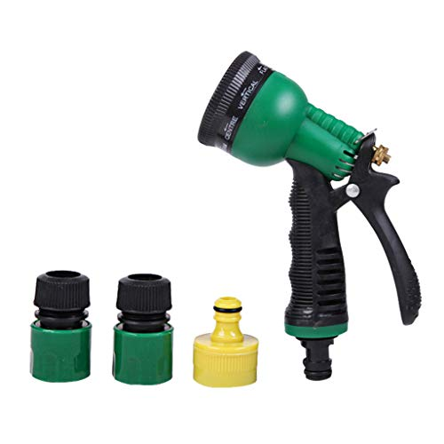 TIREOW Wassersprinkler mit 7 Einstellbaren Wassermustern, Garten Auto Waschen Mächtige Kraft Wasserschlauchdüse Blaster Feuerwehrmanndüse für Gartenarbeit, Autowaschen, Deck