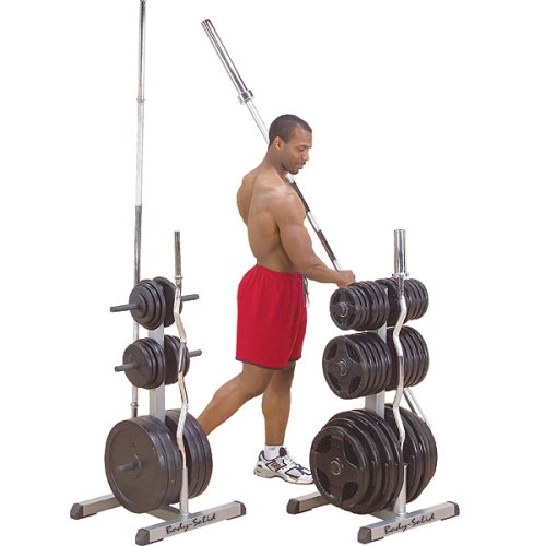 Body-Solid Olympic Plate Tree Bar Holder (GOWT)