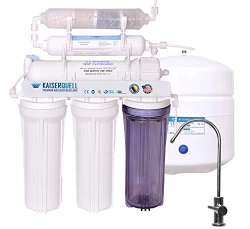 kaiserquell® Umkehrosmoseanlage aus Deutscher Manufaktur 6 stufig filtert PESTIZIDE NITRAT UND MIKROPLASTIK mineralisiert kalkfrei veredeltes Trinkwasser