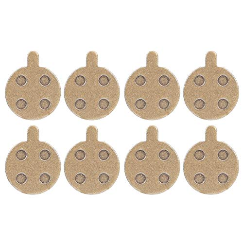 Salaty Bremsbelag, Universal-Bremsbelag, 10 Zoll langlebiges Metall auf Kupferbasis für Elektroroller-Bremsbelag Zubehör Ersatzteile für Elektrofahrräder