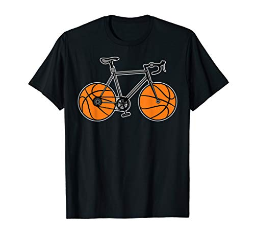 Bike Cycling & Sports Ball - Bicycle Cyclist and Basketball T-Shirt