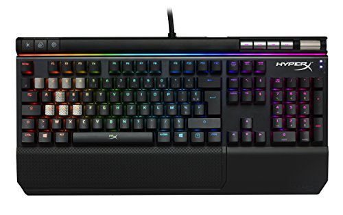 HyperX HX-KB2RD2-FR Alloy Elite RGB - Clavier Gaming mécanique, Cherry MX Red (AZERTY)