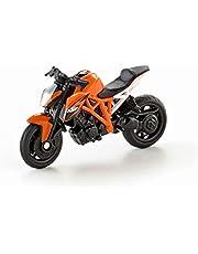 siku 1384, Moto KTM 1290 Super Duke R, Metal/Plástico, Naranja, Ruedas de goma