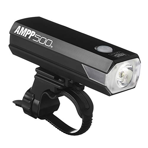 CAT EYE, AMPP500 Rechargeable Bike Headlight, High Power LED, 500 Lumens, with Micro USB Cable