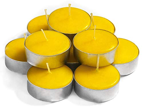 Exquizite Citronella Scented Candles Tea Lights Candles - 30-Pack - Highly Scented Citronella Tealight Candles Set with 3-4 Hour Burn Time - Candles for Summer Parties, Outdoor Activities and Camping
