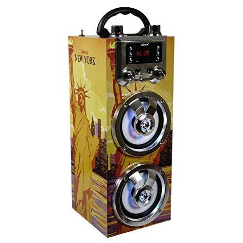 Altavoz portátil con función Bluetooth y Karaoke. Cuenta con una Potencia de...