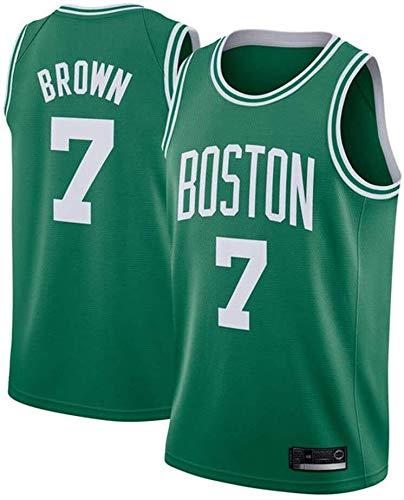 ASSD NBA Boston Celtics Herren Trikot 7# Braun bestickt Mesh Basketball Swingman Jersey (Farbe: Grün, Größe: M)