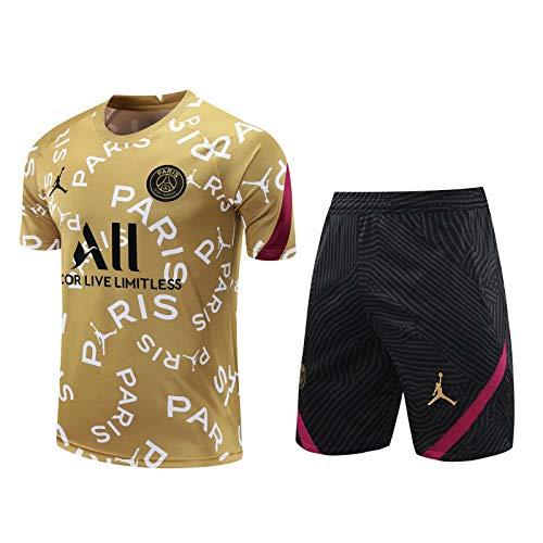 Qinmo Camiseta del Club de fútbol de París 2021 de París, Camiseta de fútbol de los fanáticos de los fanáticos, Camiseta de fútbol de los fanáticos, Camiseta de partidario Top Top + Pantalones