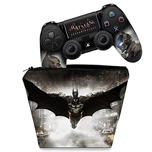 Capa Case e Skin Adesivo PS4 Controle - Batman Arkham Knight
