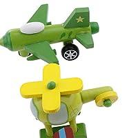 Generic 12 Parti in Legno di Aerei Ed Elicotteri, Abilità Motorie Fini, Coordinamento Occhio-Mano #3