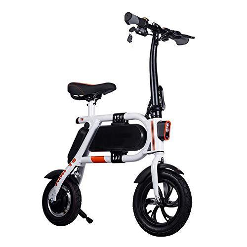 Bicicleta Plegable Eléctrica, Bicicleta Eléctrica Adulto Dos Ruedas Mini Pedal del Coche...