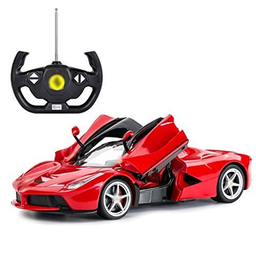 XINZ-BYT Juguete Control Remoto Coche Niños Grandes Coche Recargable Recargable Coche Modelo Ferrari Control Remoto Coche (Rojo, Amarillo) (Color: Rojo) Modelo de Juguete (Color : Red)