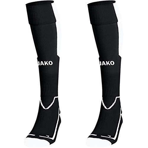 JAKO Lazio Stutzenstrumpf, schwarz/Weiß, 5 (43-46)