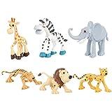 Pack de Juguete de Animales 6 Piezas, Juguete de Animales de Alta Simulaci¨n Figura de Dinosaurio, Regalo para Ni?os Mayores de 3 A?os (6 Piezas Animales )