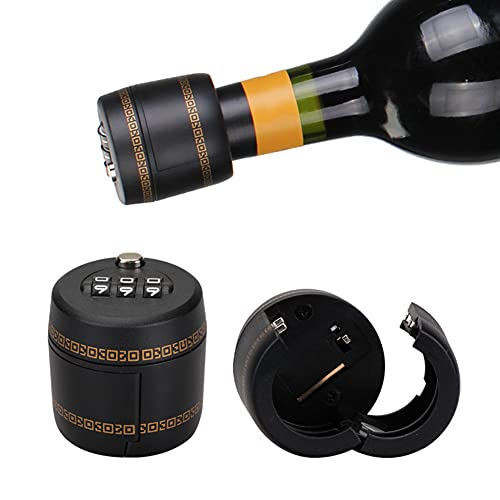 3 / 6st kombinationslås för vinflaska vin whiskyflaska toppstoppflaska lösenordskodlås vin digitalt lås,3 pcs