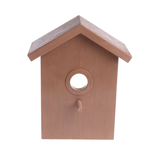 luosh Bird House Nesting Box for Garden DIY Nest Home Decoration Outdoor Breeding Cockatiels Box Roof