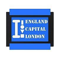 イギリス首都ロンドン デスクトップフォトフレーム画像ブラックは、芸術絵画7 x 9インチ