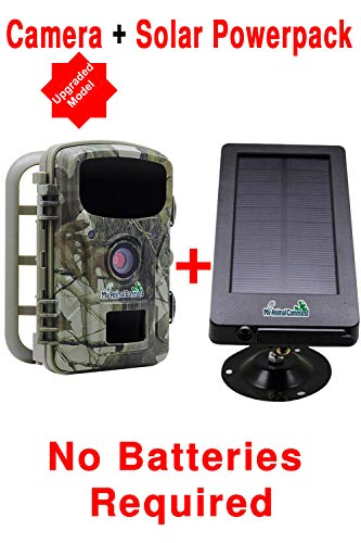 My Animal Command Solar Trail Camera 16MP Game Time Lapse Cam with Night Vision Motion Activated, IP66 Waterproof 1080p Spy Outdoor Deer & Wildlife Hunting. (16MP Camera and Solar Power Pack Bundle)