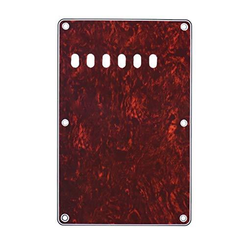 Schlagbrett zurück Platte Tremolo Raum-Abdeckung Vintage Style Backplate for Fender Stratocaster Strat ST Standard-Modern Style E-Gitarre 4Ply Musikinstrumententeile (Color : Dark red)