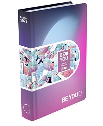 Diario Agenda Scuola Be You Meme Viola 2020/2021 Datato 12 Mesi Pocket 16x12 cm + Penna Colorata Omaggio