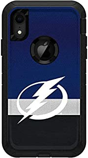 Skinit Decal Skin for OtterBox Defender iPhone XR - Officially Licensed NHL Tampa Bay Lightning Alternate Jersey Design