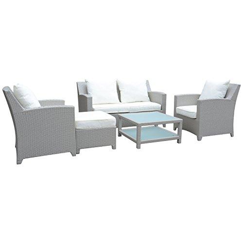 Hansson Sports Lounge, 1g105b, mobili da Giardino, Bianco, 75x 71x 65cm