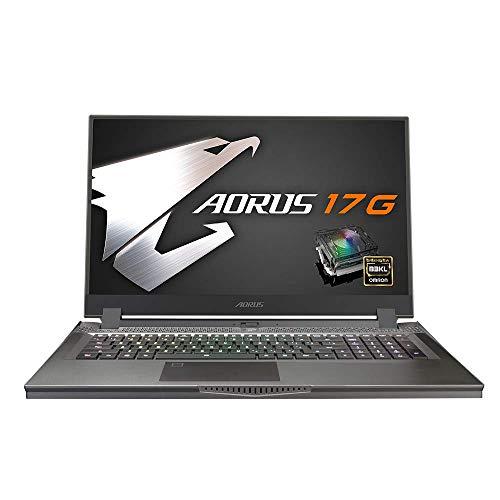 Gigabyte Laptop 17 Zoll Gaming mit mechanischer Tastatur RGB – Aorus 17G KB-7FR1130MH