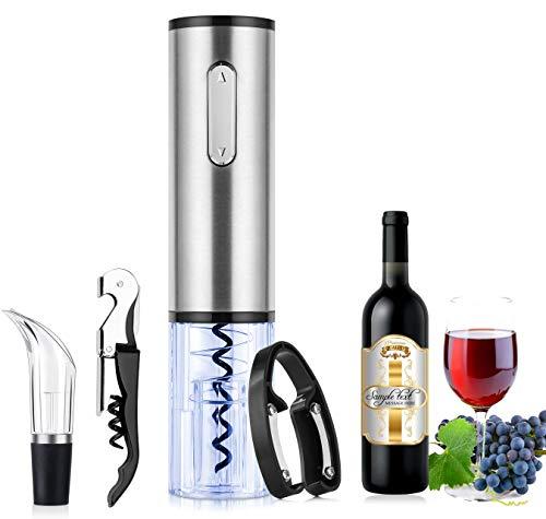 TOQIBO Sacacorchos, Sacacorchos Eléctrico Profesional, Abridor de Botellas con Cortador de Cápsulas y Vertedor de Vino - Recargable
