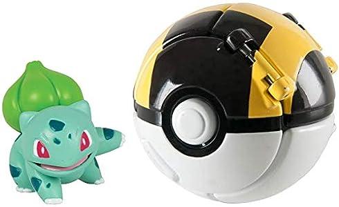 su ma Poké Bolas Pokéball, Pokemon Figuras with Throw Pop Poké Ball Toy Set para Niños y Adultos Celebración de Fiestas Divertido Juego de Juguete de Regalo (Bulbasaur)