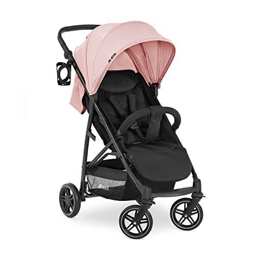 Hauck Rapid 4R Plus Buggy bis 25 kg mit Liegefunktion ab Geburt, XL Verdeck mit UPF 50+, höhenverstellbarer Griff mit Becherhalter, einhändig faltbar, großer Einkaufskorb - rosa