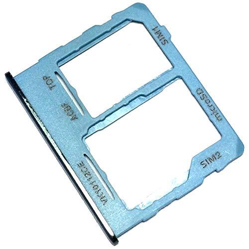 Bandeja Tarjeta SIM y Soporte Micro-SD para Samsung Galaxy A32 5G (A326B, A326B/DS), Repuesto Original, Azul