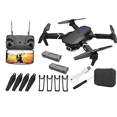 Hainice Drone GPS E88 Pro para Adultos 4K cámara Plegables vídeo en Directo con Aviones no tripulados RC Quadcopter Aviones con 2battery