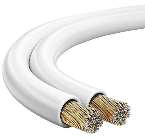 mumbi mumbi_29888 Câble d'enceinte 2 x 2,50 mm² 20 m Blanc