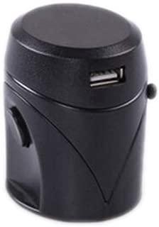 XIMINGJIA-O Power Plug Adapter - International Travel - 1 USB Port in More Than 150 Countries - 100-250 Volt Adapter - (1 Pack) Black International Converter,