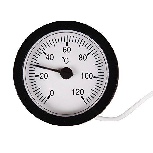 Domybest thermometer voor capillaire temperatuur, 0 – 120 C, water en olie 1,5 meter, sensor