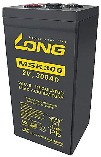 Kung Long MSK300 2V 300Ah AGM Blei Akku für Notstrom USV-Anlagen (Radar, Funk, Sicherheitsbeleuchtung, Telekommunikation, BSV-Anlagen, Notbeleuchtung) Solarspeicher (Hausspeicher, Inselsysteme)
