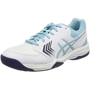 Asics Women's Gel-Dedicate 5 Tennis Shoes, White (White/Porcelain Blue/Indigo Blue 0114), 40.5 EU (7 UK):Eventmanager