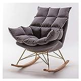 ADSE Mecedora Mecedora Sofá Perezoso Tatami Lounge Chair Dormitorio Sala de Estar Oficina Moderno Simple Silla Individual Sillón 106x92x93cm